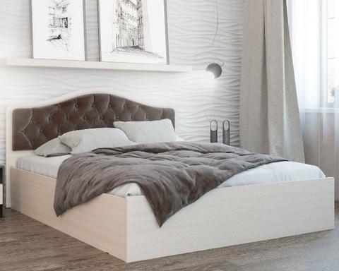 Кровать ДЕЛИ  1400 дуб молочный