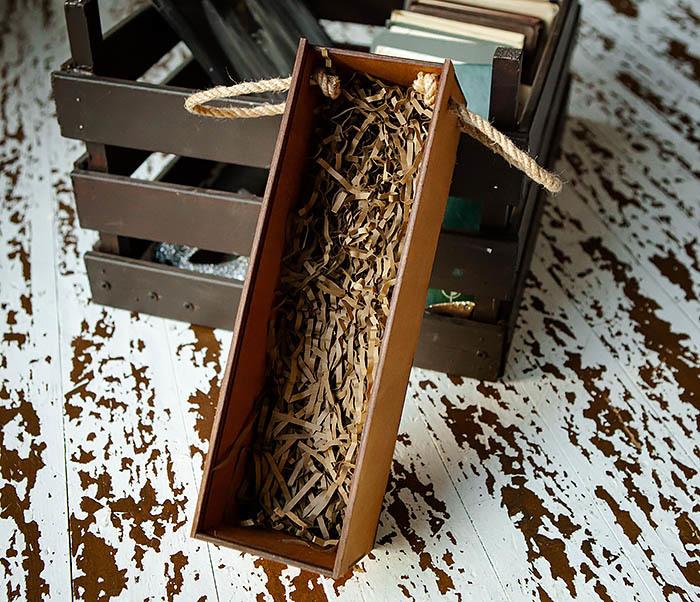 BOX244 Коробка из дерева для бутылки вина (33*10*10,5 см) фото 06