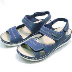 Кожаные сандали женские спортивные Inblu CB-1U Blue