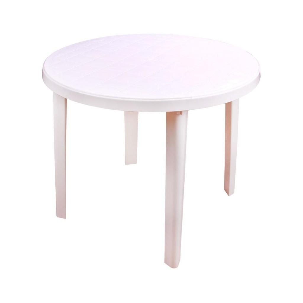 Стол круглый пластиковый 900х900х750мм белый