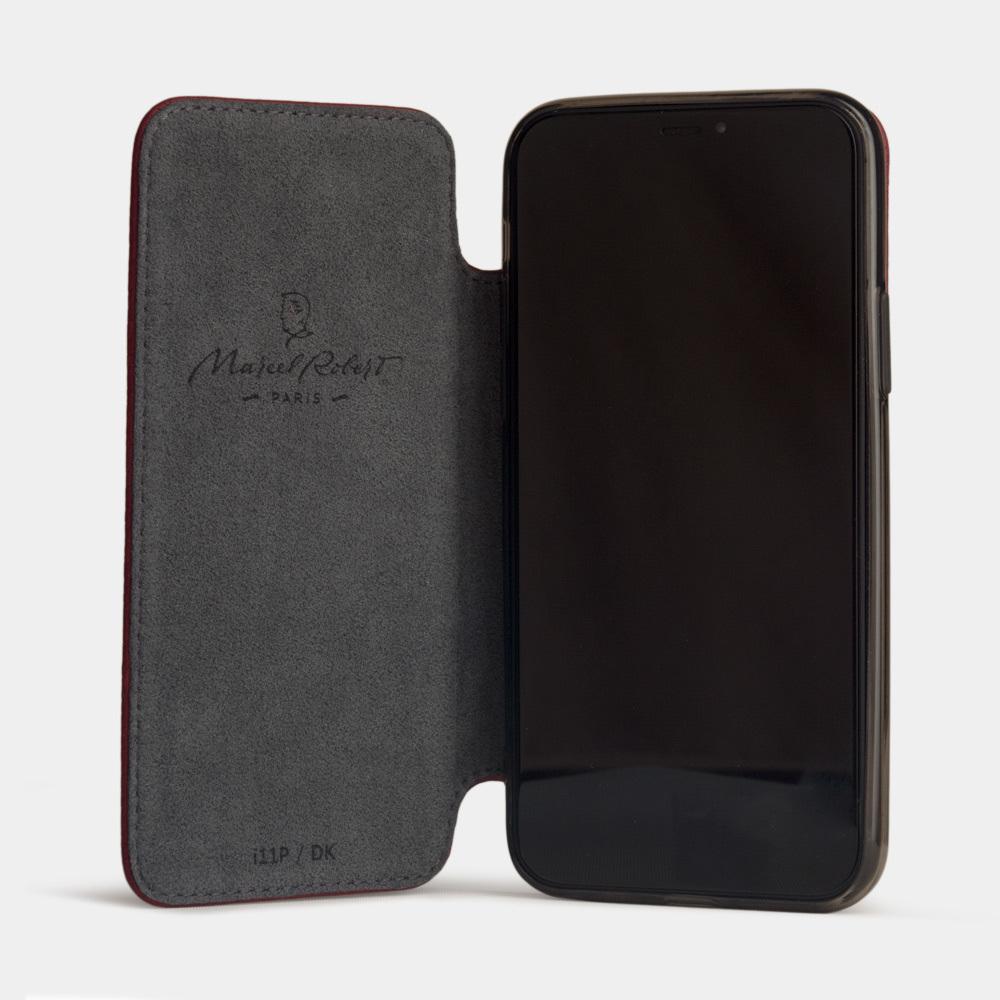 Чехол Benoit для iPhone 11 Pro Max из натуральной кожи теленка, вишневого цвета