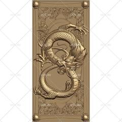 Силиконовый  молд № 2123 накладка Дракон