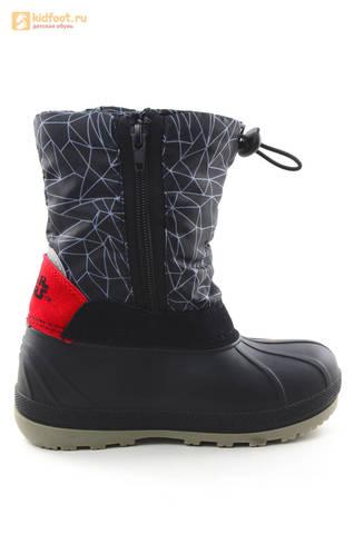 Зимние сапоги для мальчиков непромокаемые с резиновой галошей Звездные войны (Star Wars), цвет черный, Water Resistant. Изображение 4 из 16.
