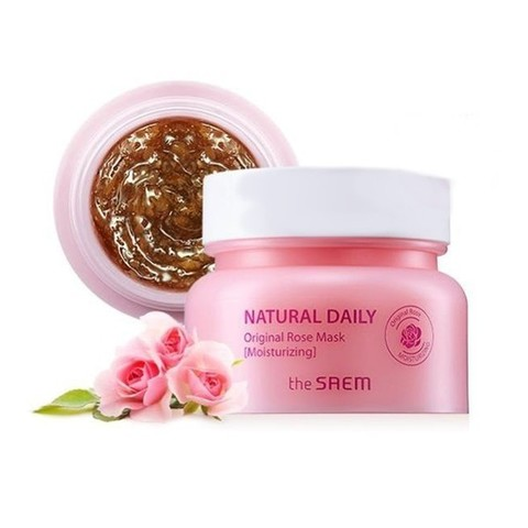 The Saem Natural Daily Original Rose Mask увлажняющая маска с лепестками роз