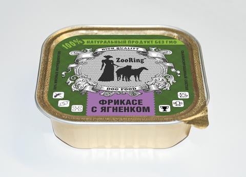 ЗООРИНГ Корм консервированный полнорационный для собак (паштет) Фрикасе с ягненком 1,6 кг.