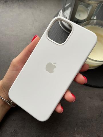 Чехол Iphone 12 pro Max Silicone case original quality /white/