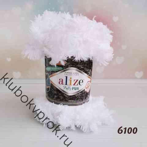 ALIZE PUFFY FUR 6100, Белый