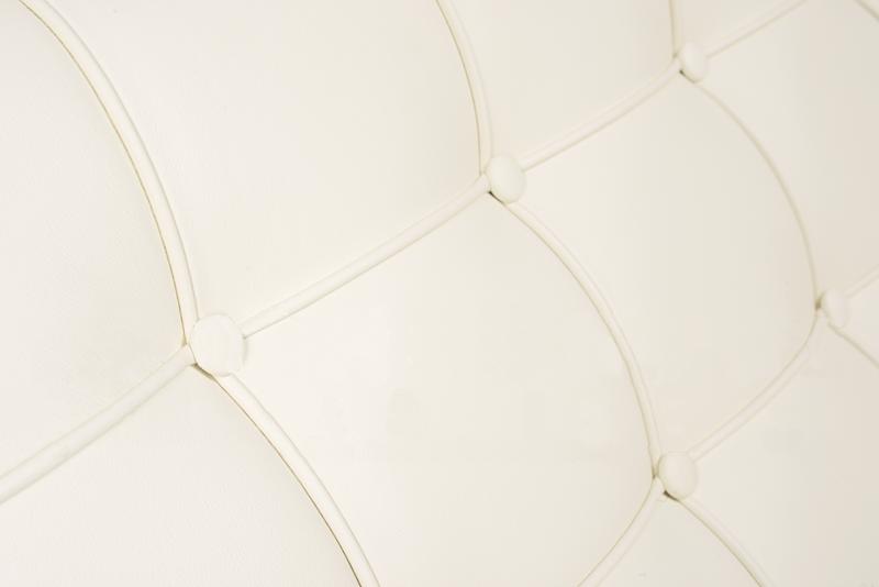 Диван Barcelona Style Loveseat Sofa белая кожа - вид 6