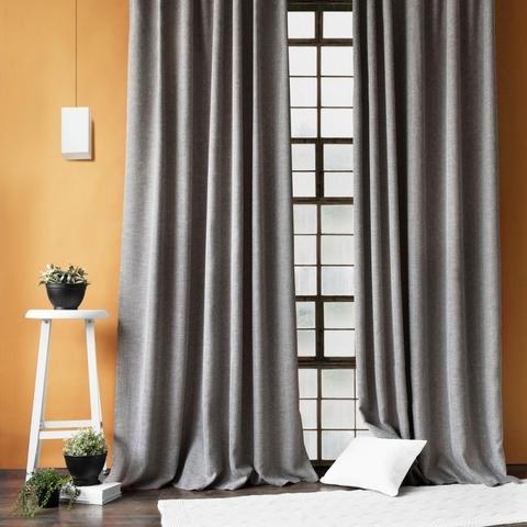 Комплект штор с подхватами Белла темно-серый