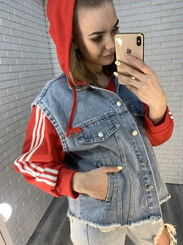 безрукавка джинсовая куртка nadya