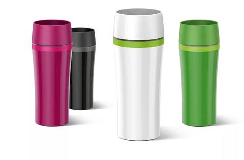 Термокружка Emsa Travel Mug Fun (0,36 литра), белая/зеленая