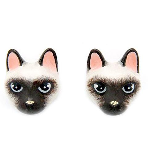 Серьги Сиамская кошка