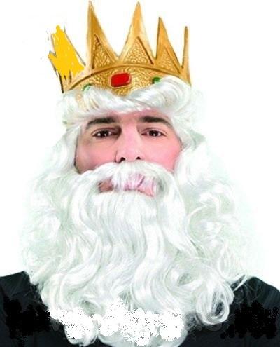 Парик ''Король с бородой и короной''