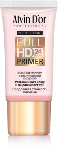 Alvin D`or  SP-02 База под макияж Full Hd primer 24hours (розовая) 25мл