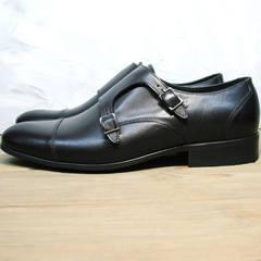 Классические кожаные туфли монки мужские Ikoc 2205-1 BLC.