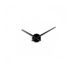 Большие 3D часы черные без цифр и рисок, 50, 70, 90, 110 см