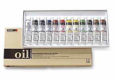 Набор масляных красок ShinHanart OIL COLOR PRO, 12 цветов, 20 мл