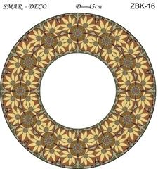 Эскиз для росписи, Зеркало диаметр-45см, SMAR-ZBK-16