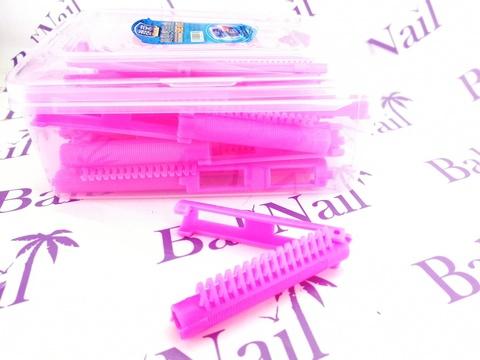 Ролики для прикорневого объема (24 шт/уп) розовые 7,5 см