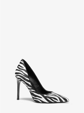Туфли Keke zebra-print calf hair