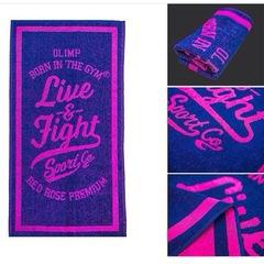 Полотенце Olimp Live & Fight Red Rose Pink 100x50