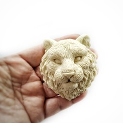 1097 Молд силиконовый. Голова тигра (большая)