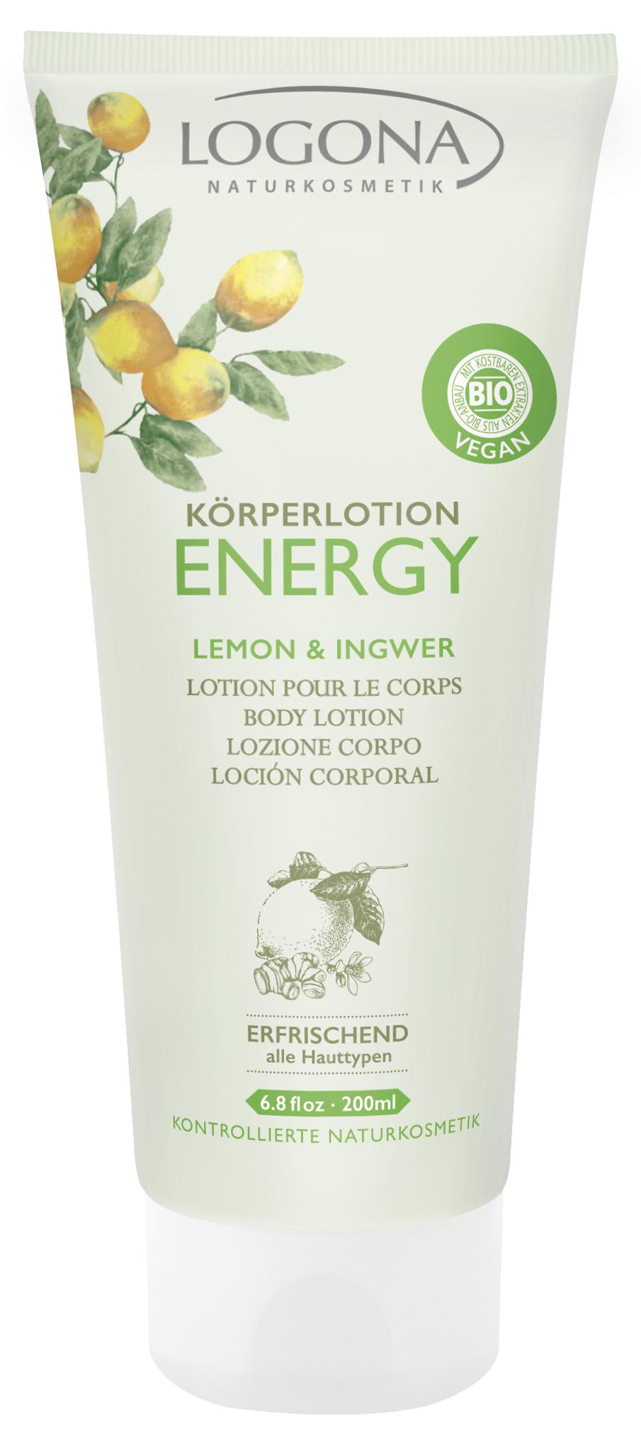 LOGONA ENERGY Лосьон для тела с Лимоном и Имбирем