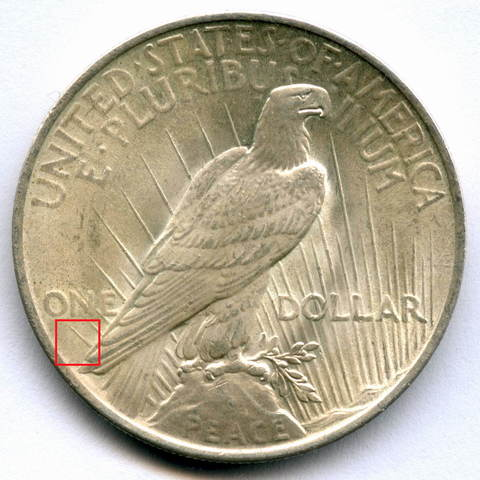 1 доллар 1922. США AU (Мирный)