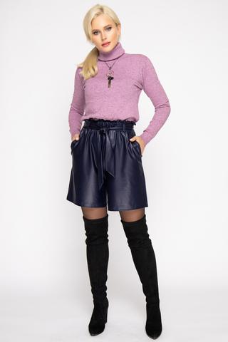 Шорты (эко-кожа черника). <p><span>Модные шорты из эко-кожи 2020 года придадут изюминку вашему образу и привлекут внимание представителей сильного пола.&nbsp;</span></p>
