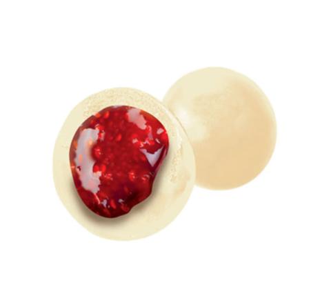 Драже клубника в белой шоколадной глазури, 100гр