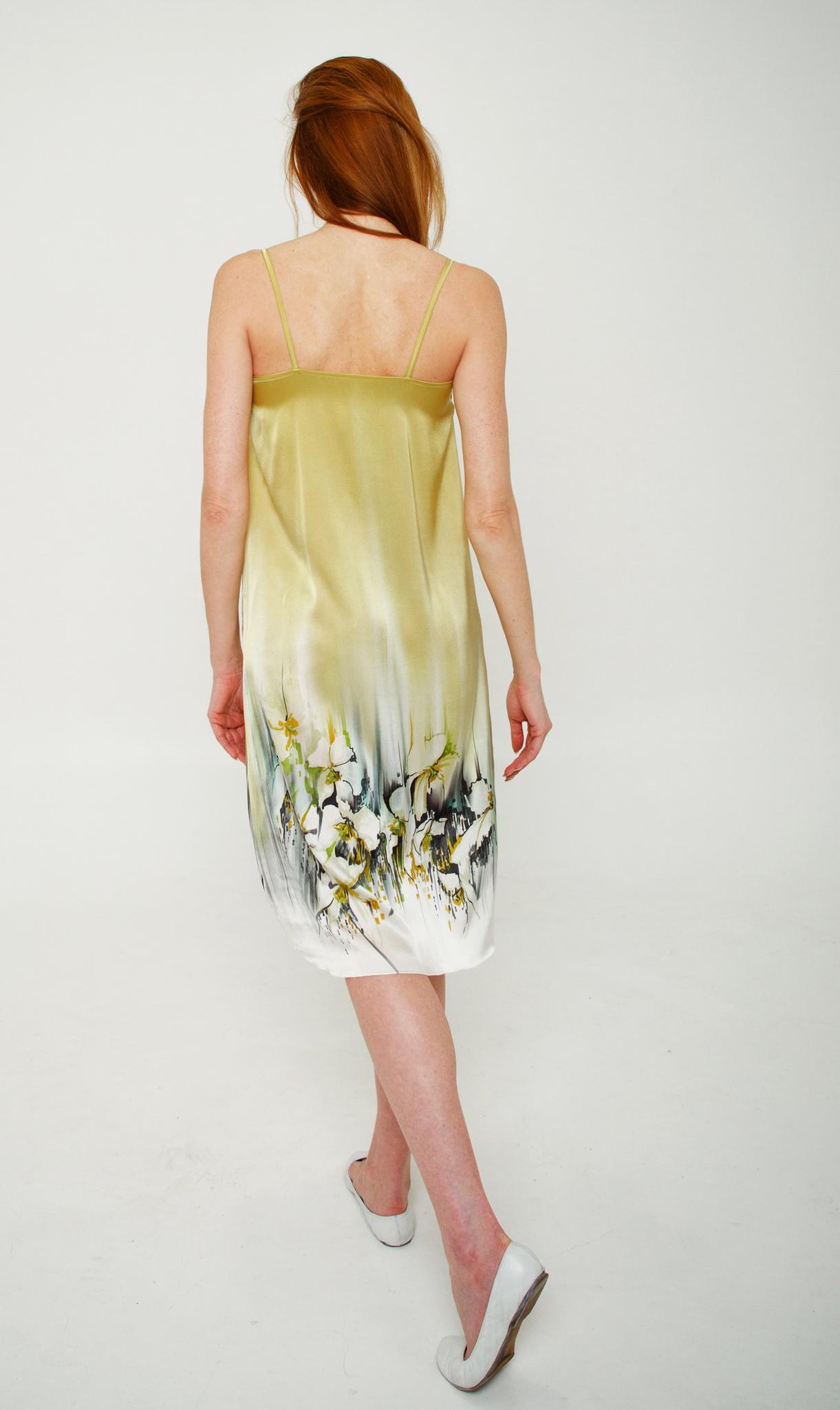 Шелковое платье - комбинация батик