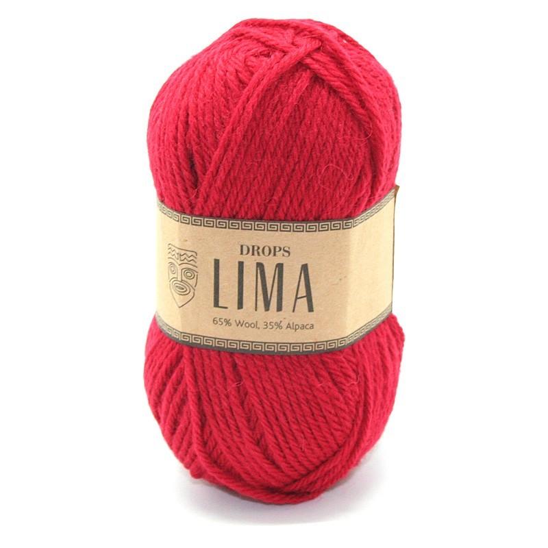 Пряжа Drops Lima 3609 красный