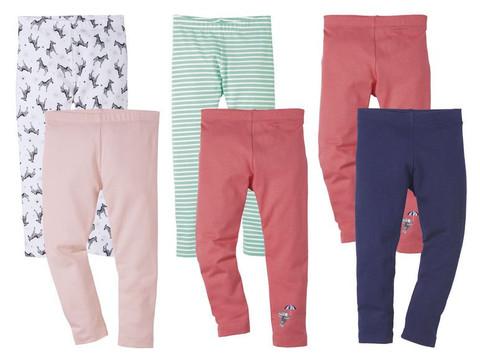 Лосины для девочки 2 шт. Lupilu розовые + зебра(первые слева)