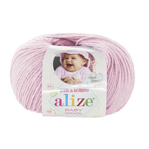Пряжа Alize Baby Wool светлая пудра 184
