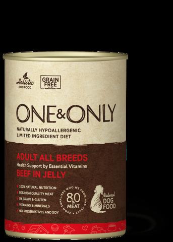 Консервы (банка) One&Only говядина в желе для собак