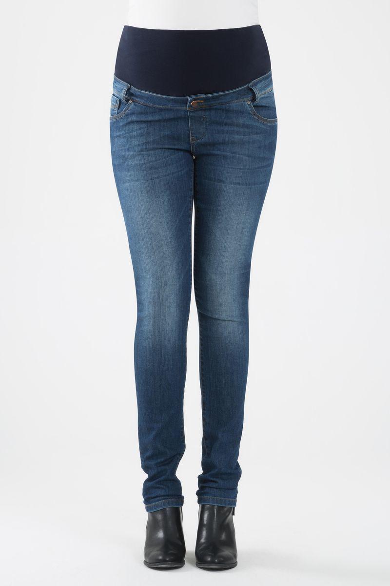 Фото джинсы для беременных GEBE, зауженные, высокий бандаж с регулировкой объема от магазина СкороМама, синий, размеры.
