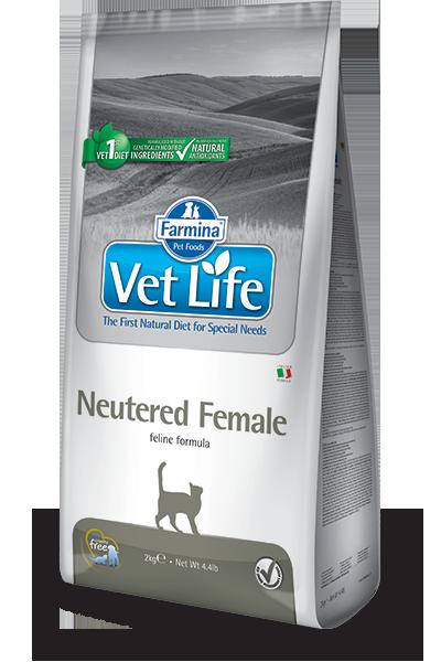 Сухой корм Ветеринарный корм для стерилизованных кошек, FARMINA Vet Life Neutered Female farmina-vet-life-feline-neutered-female_web.png