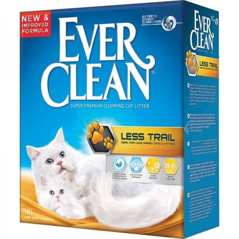 Ever Clean EVER CLEAN Комкующийся наполнитель для длинношерстных кошек (желтая полоса) Less Track