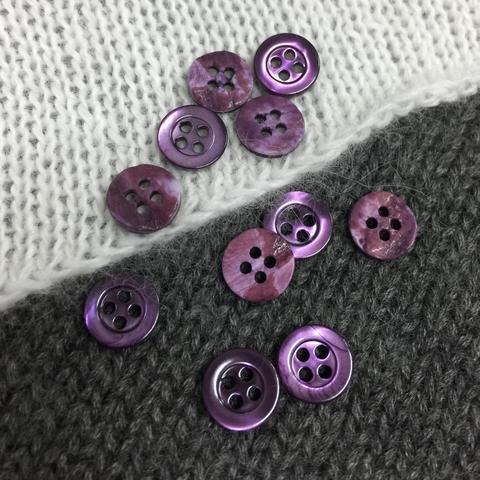 Пуговица сток Max Mara перламутр 9 мм фиолетовый