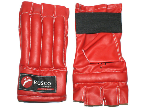Шингарты RuscoSport ХL красные (изготовлены из качественной искусственной кожи