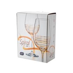 Набор бокалов для вина «Виола» золотая спираль, 350 мл, фото 2