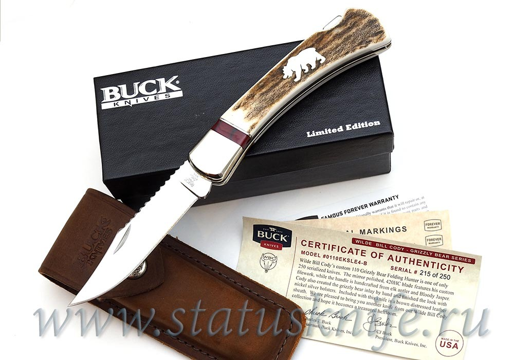 Нож BUCK 0110EKSLE4-B Grizzly Bear Hunter LTD - фотография