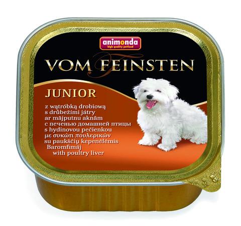 Консервы Animonda Vom Feinsten Junior с печенью домашней птицы для щенков и юниоров