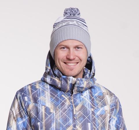 Лыжная шапка Nordski Stripe gray