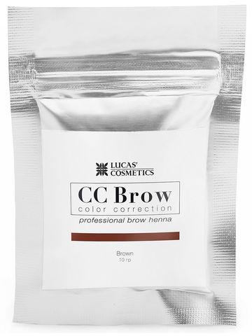 Хна для бровей CC Brow (brown) в саше (коричневый), 10 гр