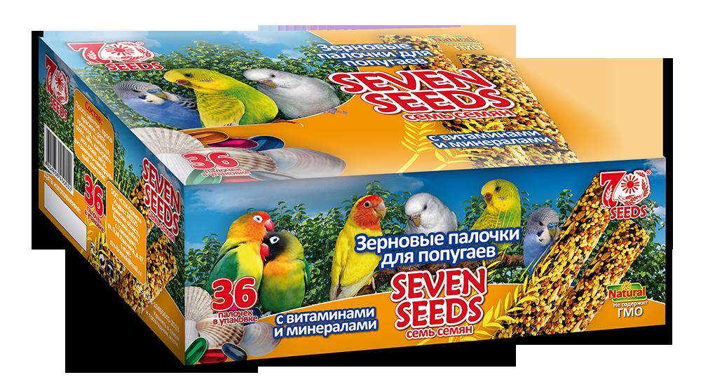 Лакомства Палочки для попугаев Seven Seeds с витаминами и минералами Шоу-бокс-попугаи-витамины.png