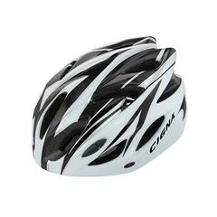 Велошлем Cigna WT-012 (чёрный/белый)