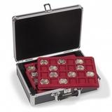 Кофр (кейс) для монет CARGO S6 включая 6 лотков по 24 квадратных ячейки 33х33 мм.