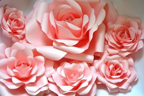 Розы из бумаги (декорации)