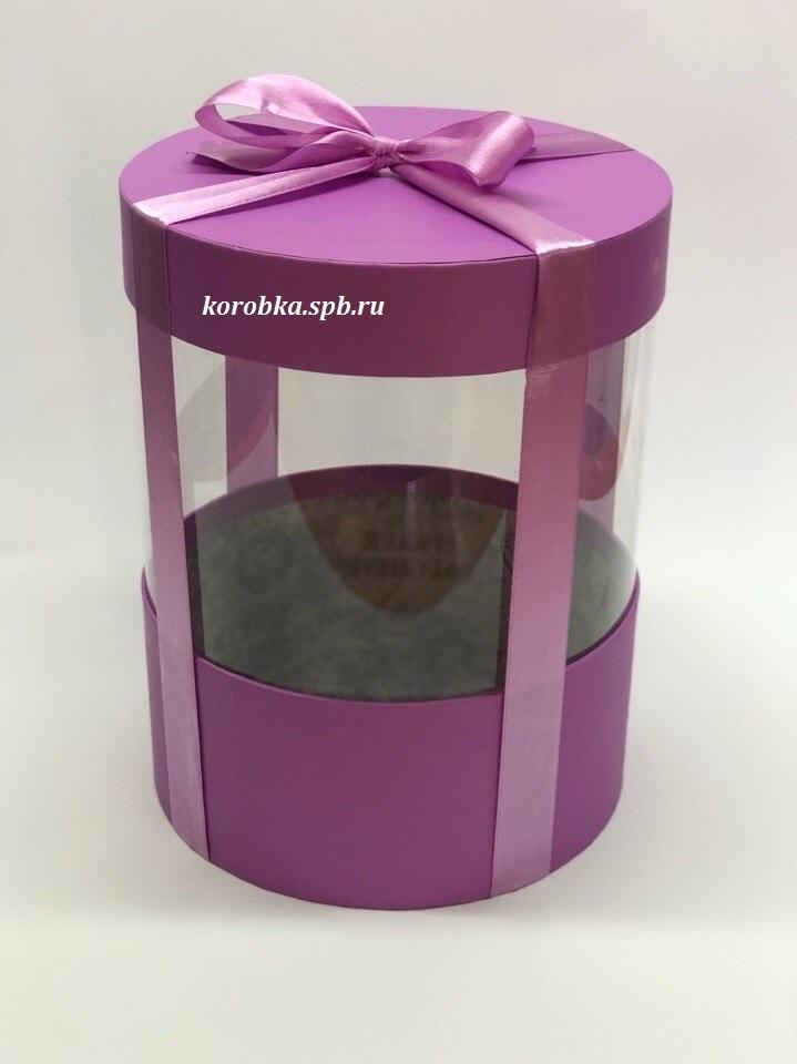 Коробка аквариум 20 см Цвет : Лиловый . Розница 400 рублей .
